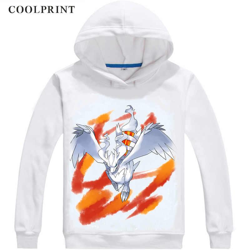 Reshiram Légendaire Pokemon Pulls à Capuche Pour Hommes Pokemon Poche Monstres Poketto Monsuta Sweat Streetwear Sweat à Capuche Anime Longue à Capuche