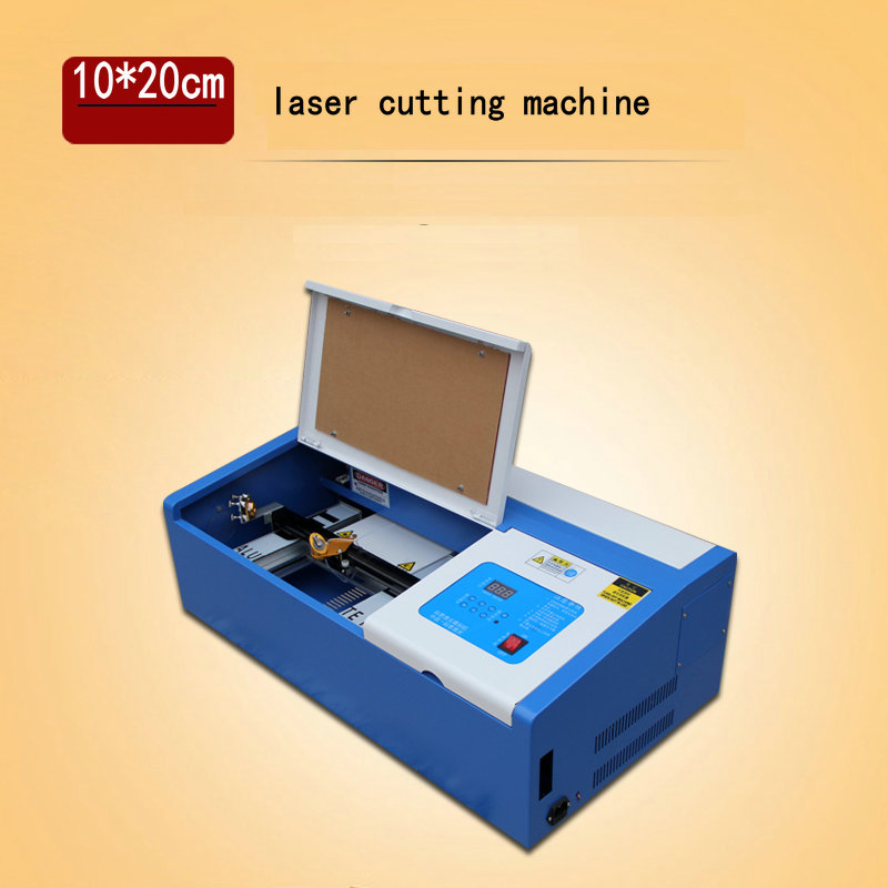 20*10cm 40w CO2 laser engraving machine mirror acrylic rubber leather laser marking machine  board carving handicraft carving laptop case