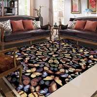 Amerikanischen Stil Wohnzimmer Große Hause Teppich Schmetterlinge Muster Hochzeit Decor Kinderzimmer Spielen Spiel Sofa Nicht-Slip Bereich teppich Tapete
