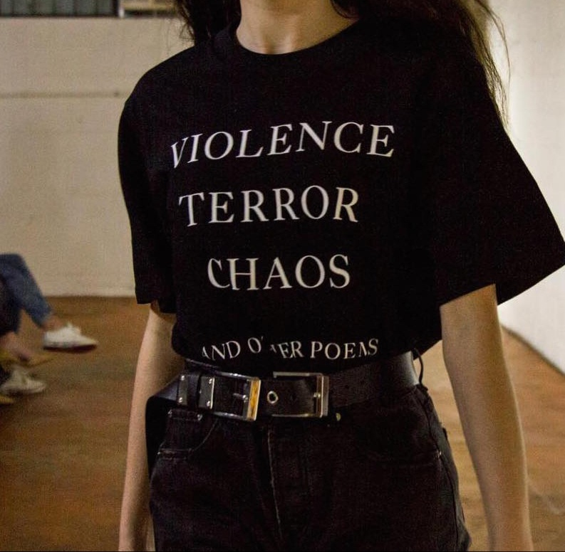 Vi*lence Terror Chaos And Other Poems Quotes T-Shirt Unisex Tumblr Fashion Grunge Graphic Tee Street Style Summer Outfits shirt image