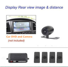 Car Video DVD Parking Sensor Reverse Backup Assistance Alarm Security Radar image all-in-one System + 13mm Flat Sensors 6 Colors