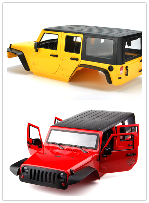 1:10 313 wheelbase Jeep Wrangler 5 door shell RC Rock Crawler Harder Plastic Shell for Axial SCX10 RC4WD D90 TAMIYA CC01 TRX-4 стоимость