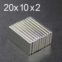 5/10/15/20/50 Pcs 20x10x2 Magnete Al Neodimio 20 millimetri x 10 millimetri x 2 N35 Blocco NdFeB Super Potente Forte Magnetico Permanente imanes