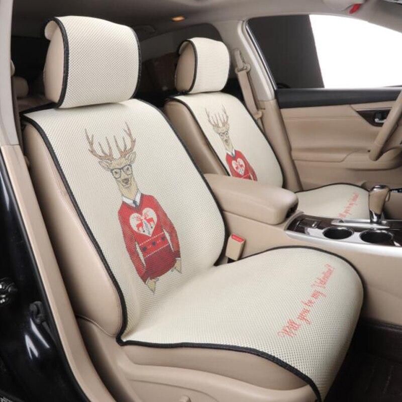 """""""передний 2 автомобиль чехлы на сиденья автомобилей сиденья протектор для Volkswagen VW поло 6р 9 и седан доработанный sagitar Сантана воланте кэдди 2017 2016"""""""