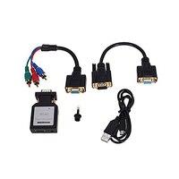 HDMI To VGA Ypbpr SPDIF Audio Converter Audio Converter Adapter Mini HDMI to VGA+Ypbpr Switch Audio SGA998
