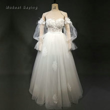 Sexy Sheath Sweetheart Lace Wedding Dresses 2018 with Long Sleeves Beaded Bridal Gown with Puffy Detachable Skirt abiti da sposa