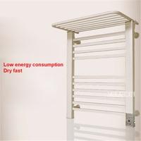 Y 022 Electric Heating Towel Rack Household Bathroom Towel Dryer Space Aluminum Electric Heated Towel Rail 220V 80W (65*55CM)