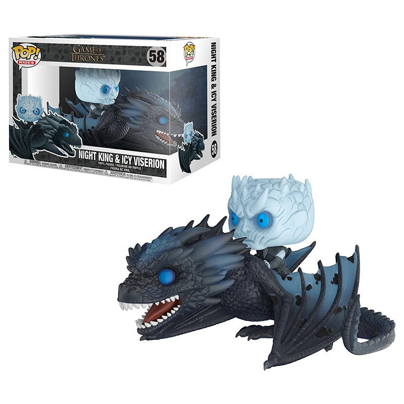 Funko POP Song Of Ice And Fire Game Of Thrones NIGHT KING & ICY VISERION Action figure Doll Collectible Model toys for chlidren game of thrones action figure throne figures chair model a song of ice and fire models sword desk decoration present chirstmas