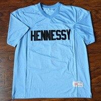 MM masmig Havoc Queens puente #95 Hennessy fútbol Jersey cosido azul cielo-sacudió los