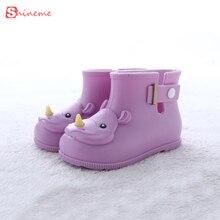 Enfants Bottes Mini Melissa Rhinocéros Filles Rainboots Canard Jelly Shoes Chaussures de L'eau À Court de haute qualité confortable doux Enfants Bottes
