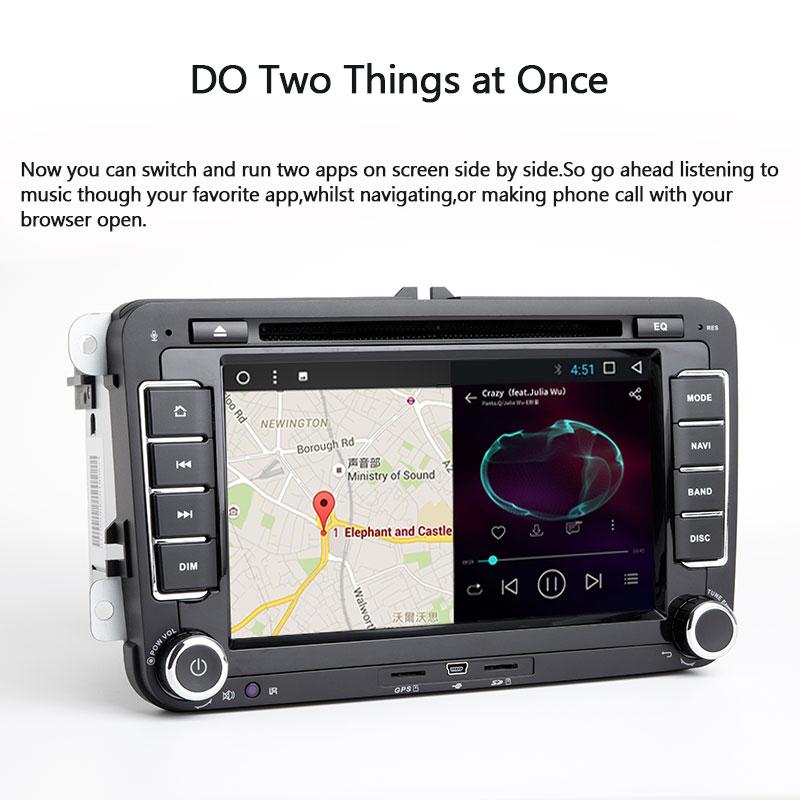 2din Android 8.1 GPS AutoRadio pour Skoda Octavia 2 Passat B6 VW T5 Polo Amarok Volkswagen superbe 3 places Leon Golf 5 6 multimédia - 4