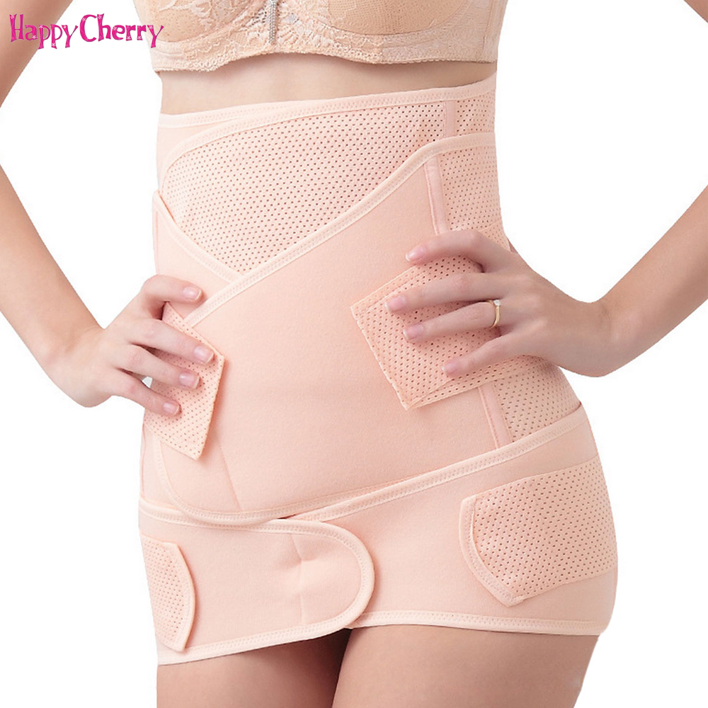 Happy Cherry Maternity Belt 3 Pieces/Set Postnatal Bandage Pregnancy Belt Postpartum Slim Shaper Belly Band For Pregnant Women
