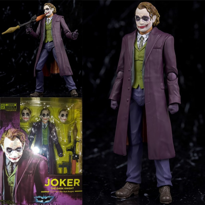 ALEN SHF S.H.Figuarts Batman The Dark Night Joker PVC Action Figures Collection Model Toys Doll 15cm ...