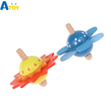 Children Educational Wooden Toys Flower Rotate Baby Wood Toys For Kids Spinning Top Develop Intelligence Toys Sensory Gift