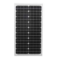 KINCO 30w 18v Solar Panel High Conversion Rate Monocrystalline Silicon Solar Cell With Glass Bearing Plate For Car Battery