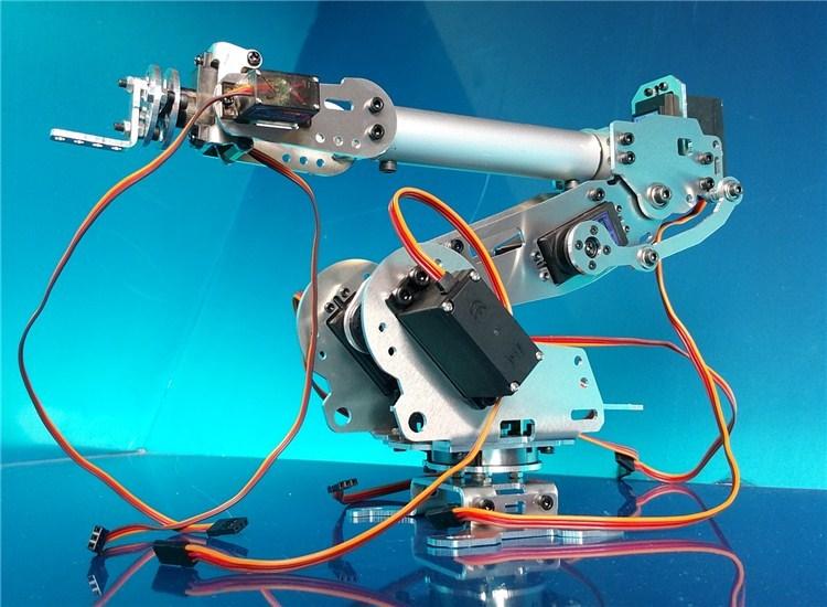 Wenhsin Abb Industrial Robot 798 Mechanical Arm 100% Aluminum Alloy Manipulator 6-Axis Robot arm Rack with 7 Servos 6 dof robot arm six axis manipulators industrial robot model robot without controller mg996r
