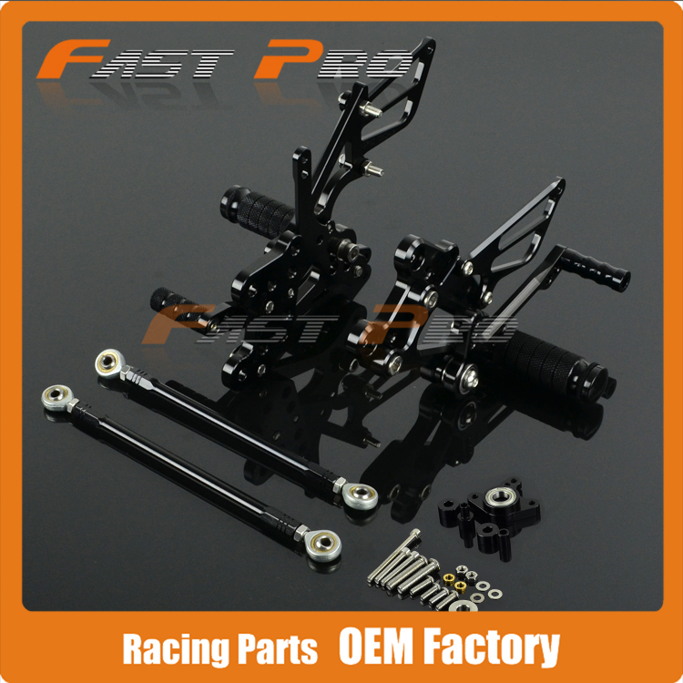CNC Motorcycle Adjustable Billet Foot Pegs Pedals Rest For HONDA CBR1000RR CBR 1000RR 2004 2005 2006 2007 motorcycle adjustable rider rear sets rearset fold foot rest pegs for honda cbr1000rr cbr 1000 rr 2004 2005 2006 2007