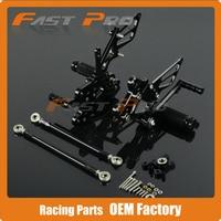 CNC Motorcycle Adjustable Billet Foot Pegs Pedals Rest For HONDA CBR1000RR CBR 1000RR 2004 2005 2006 2007