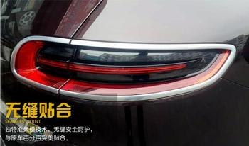 High-quality Silver ABS Chrome Rear Tail Light Lamp Cover Trim Frame 4pcs For Porsche Macan 2014 2015 2016