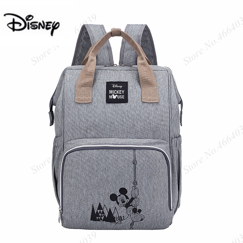 New Disney Maternity Bag Diaper Bags Feeding Travel Backpack Baby Care Mickey Cute Waterproof Wet Bag Large Mommy Bagssac Couche