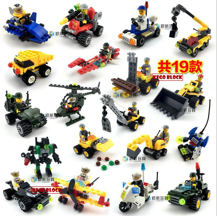 City Construction Truck Crane Police Airplane Car Motor Dumper Building Blocks Kids Toys Xmas GiftsCompatible With Legoe