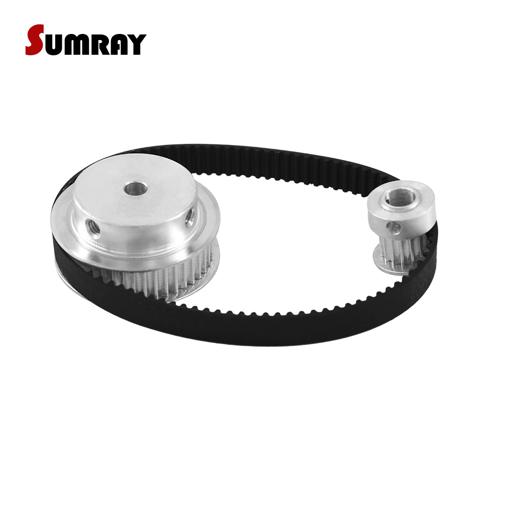 SUMRAY 3M Timing Pulley Belt Kit Reduction 1:3 3M 15T 45T Motor Pulley Wheel 11mm Belt Width HTD3M 291 Timing Belt For CNC Part все цены