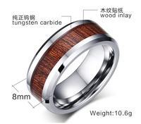MODA JOYAS High Polished Hawaii Red Wood Inlay Men S Tungsten Wedding Couples Tungsten Stripe Promisement