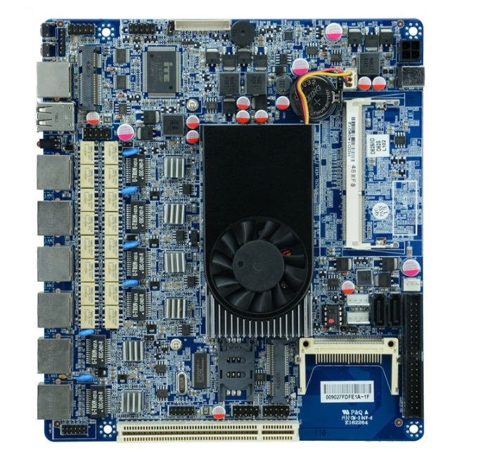 Small and medium size enterprise network security Intel Atom D525 firewall motherboard for 6 lan with Bypass