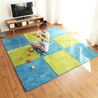 Сращивание ворсистые ковры для гостиной спальни теплый плюшевый коврик для дома Пушистый Коврик для детской комнаты искусственный мех шел