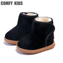 Удобные детские зимние ботинки; обувь для маленьких девочек и мальчиков; зимние ботинки; модная теплая обувь с плюшевой подкладкой; ботинки ...