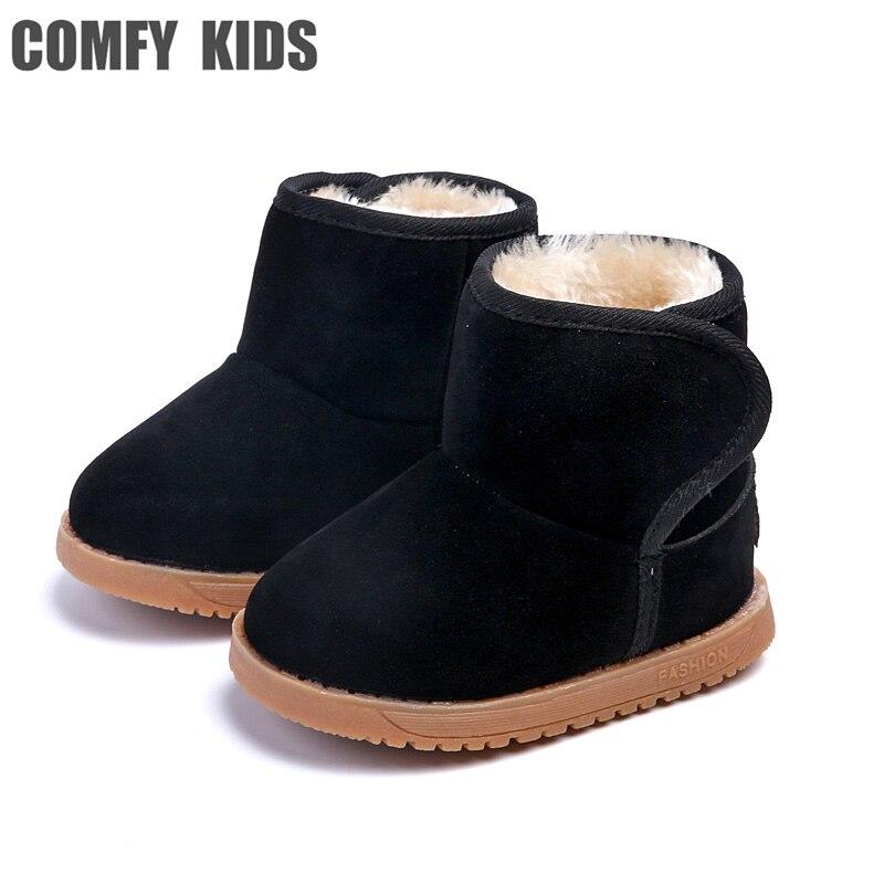 Botas de nieve cómodas para niños, zapatos para niñas y niños, botas de nieve, zapatos de felpa cálidos, botas para bebés, zapatos para niños