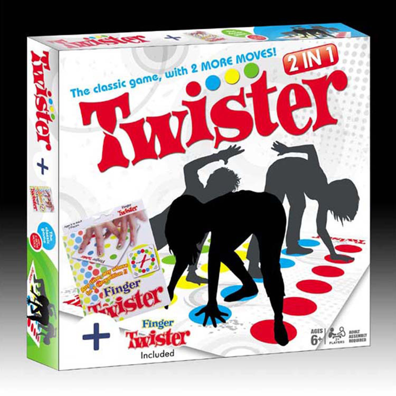 Newest Version the Classic Game,with 2 more moves Finger Twister + Body Twister Party Game/Party Toy Intelligence Game