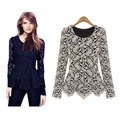 New High Quality Fashion Long Sleeve Lace Leisure Women Blouses