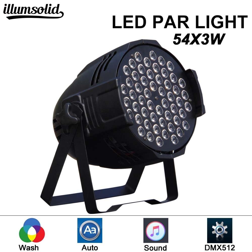 LED Par Lights 54x3w LED DMX colour wash Par Can Stage Lighting Super Bright for Wedding