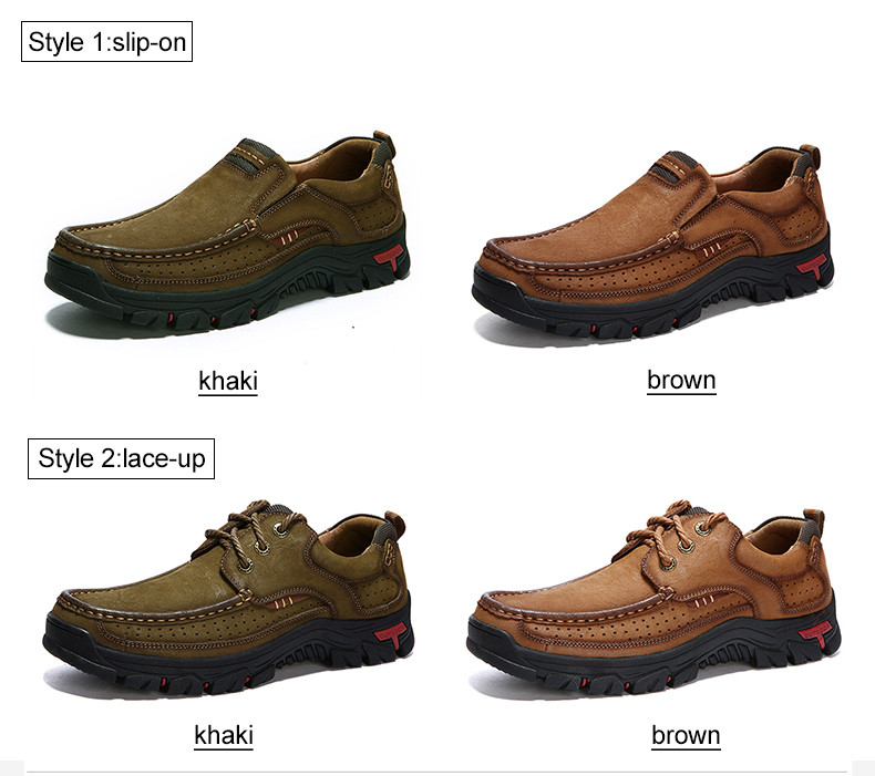 HTB1TKfbPrvpK1RjSZFqq6AXUVXam New High Quality Men's shoes 100% Genuine Leather Casual Shoes Waterproof Work Shoes Cow Leather Loafers Plus Size 38-48