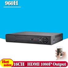 CCTV DVR 16Ch Digital Video Recorder AHD 16 Channel H.264 Hybrid Home Security DVR 1080P HDMI Output Onvif P2P NO HDD