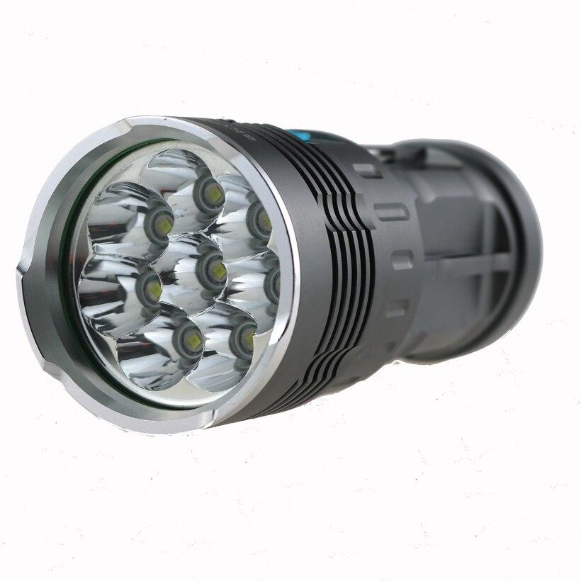 80W 8T6 9000 Lumen Waterproof New Skyray King led flashlight 4x18650 battery Torch 8x Cree XM