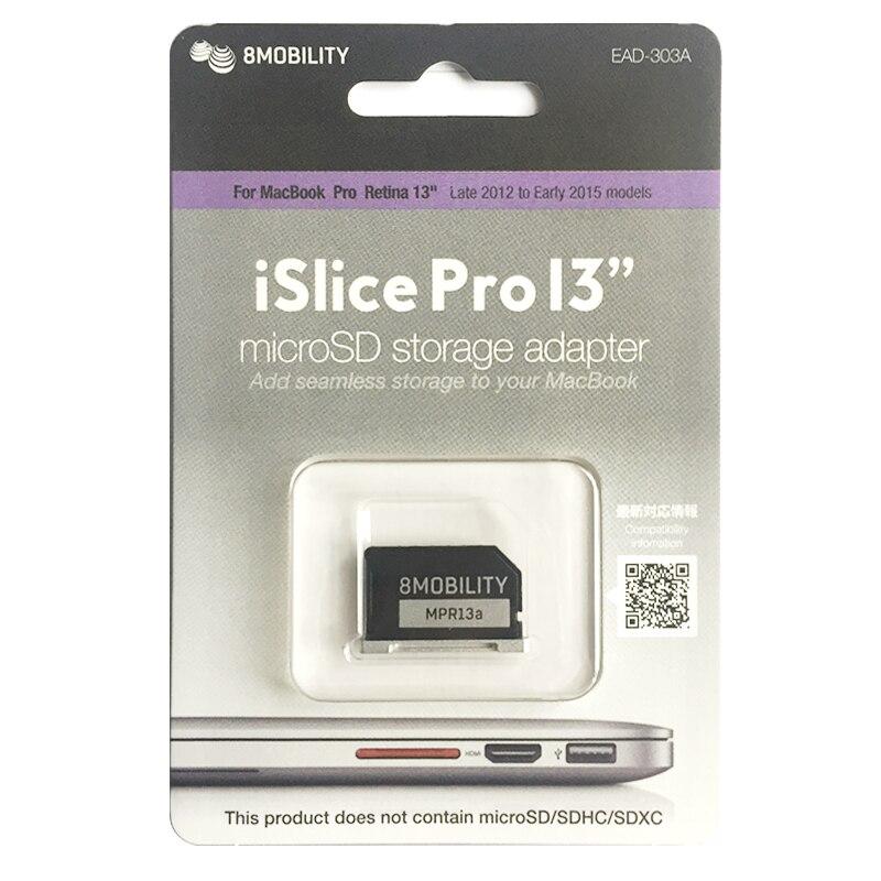 Original Eight Mobility Aluminum MiniDrive Micro SD Card Reader For Macbook Pro Retina 13'' Model 303A Memory Card Adapter