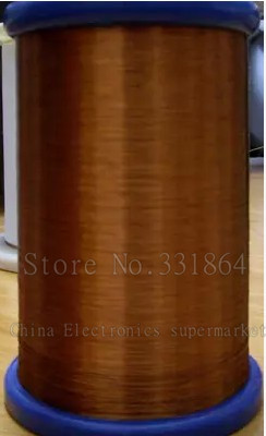 Free shipping 0.35mm 400m QZY 2/180 New polyester imide enameled copper wire copper 180 degree heat