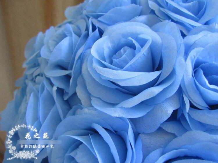 12 Pcs Lot Livraison Gratuite Ems 30 Cm Bleu Boule De Soie
