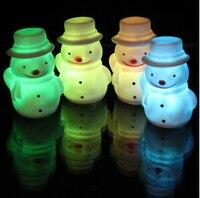 12 шт./лот 7*4 см Снеговик Дизайн ночник nightlamp для рождественской вечеринки украшения Детский подарок L003