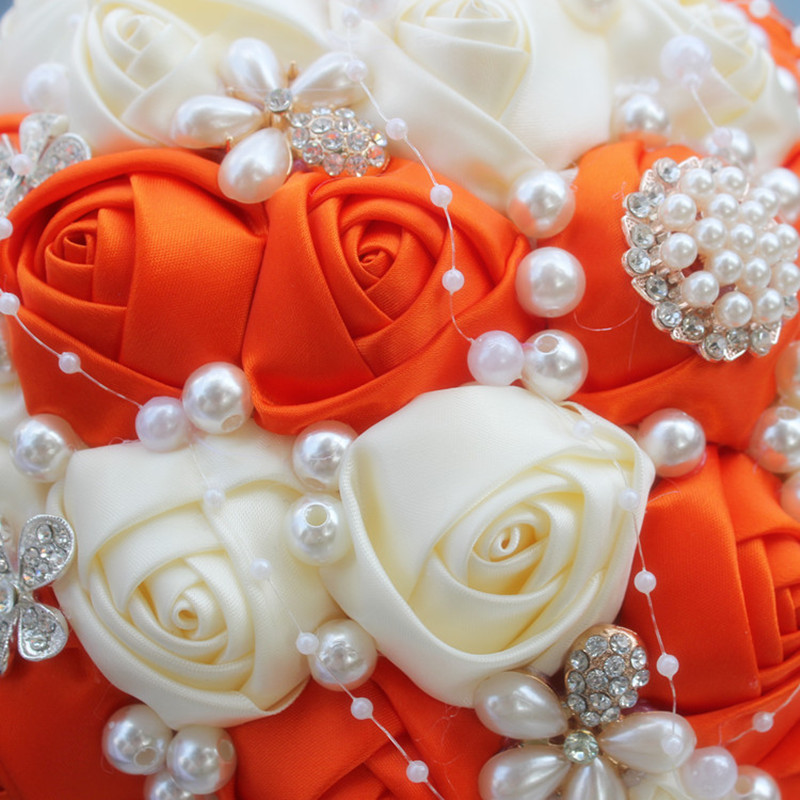 Buchet de nunta broșă exclusivă Buchet de flori artificiale - Accesorii de nunta - Fotografie 4