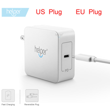 Helper 29W-65W USB Type C Wall Charger Fast Charging Power Adapter for HUAWEI MateBook Lumia 950 950XL Nexus 5X 6P