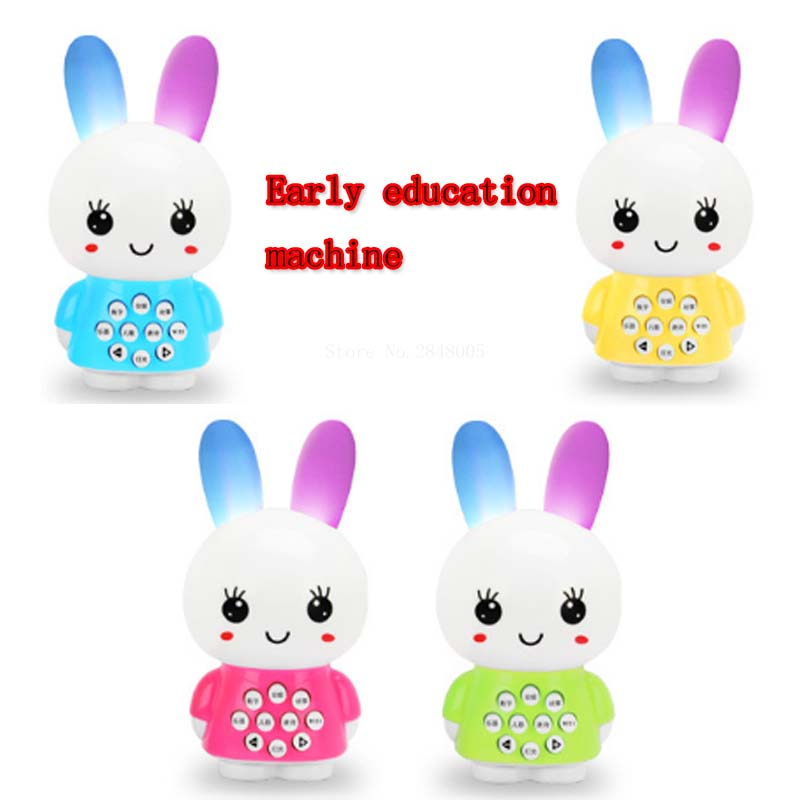 2017 New Exports English Mini Cute Rabbit Infant  Early Learning Toys Childhood Story Songs toy story bunny toys