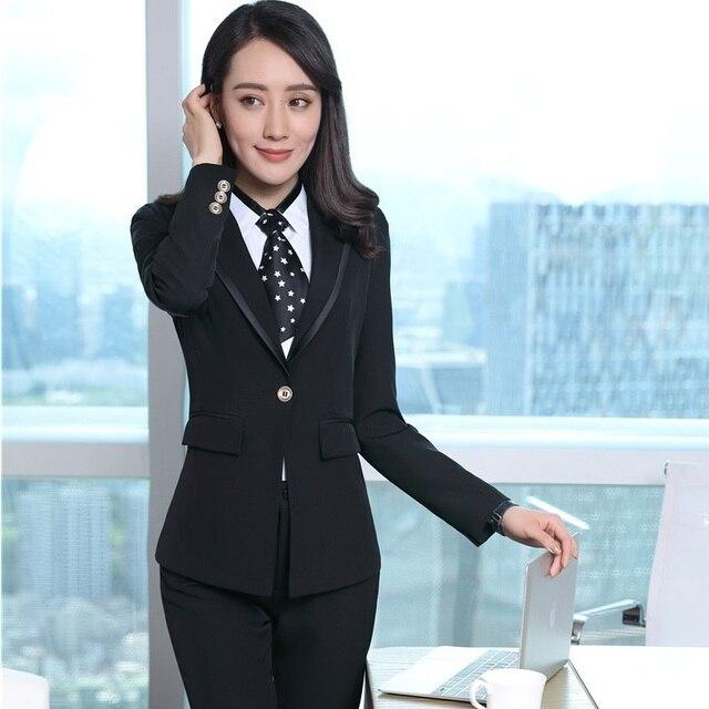 6d6cb6eefa Estilos Uniformes formales Blazers Trajes Con Chaquetas Y Falda Para Las Mujeres  de Negocios Ropa de