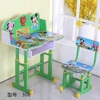 Дешевый детский стол обучающий стол с книжной полкой ученики письменный стол Подъемные столы и стулья hello kitty розовый