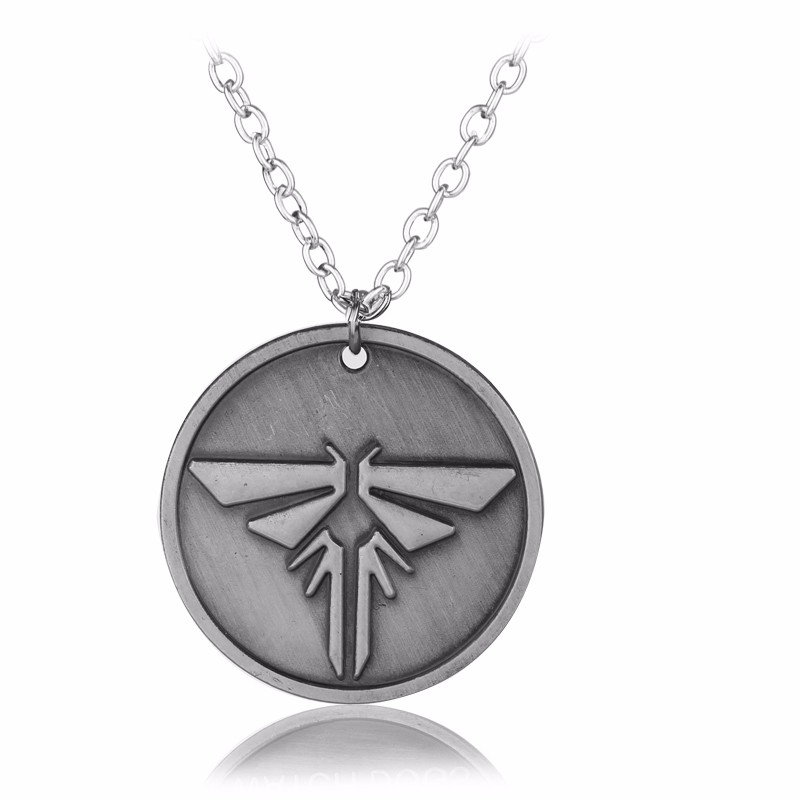 Wholesale Game Jewelry PS4 The Legend of Zelda Necklace The Last Of Us Hylian ROUND Dog Tag Metal Pendant Necklace Gift for Men