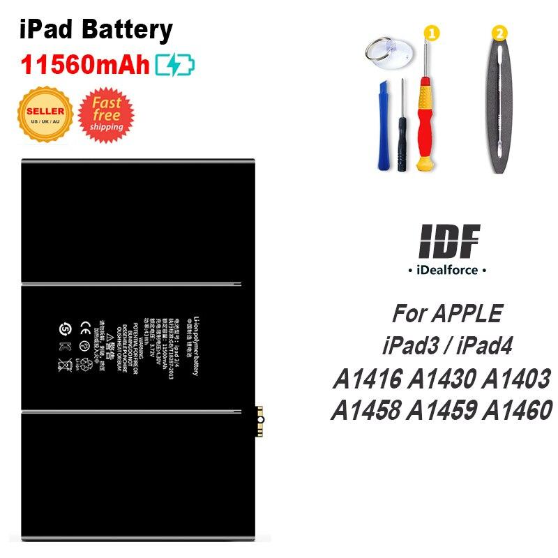 11560mAh Internal Li-ion Battery Replacement For APPLE iPAD 3/ 4 A1416 A1430 A1403 A1458 A1459 A1460 / IPAD3 iPad4