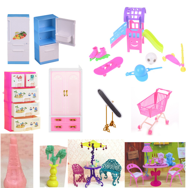 1 Pcs Mini Sofa Play Toy Flower Print Baby Toy Plush Stuffed Furniture Bed Chair For For   Doll Couch Doll House