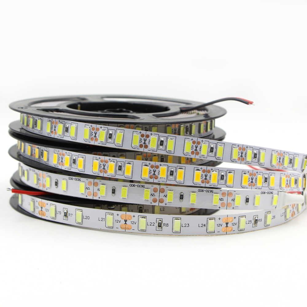 5 m Fiexble lumière ruban LED bande décoration de la maison lampe 120 leds/m 300 leds Flexible néon lampe comptoir armoire lumière étanche 12 V